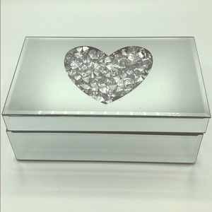 "Other - "" Heart of Diamonds"" Mirrored Jewelry Box"
